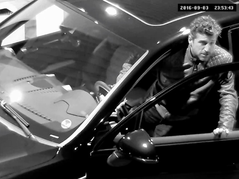 Patrick Dempsey´s way of… driving up to a gas station.